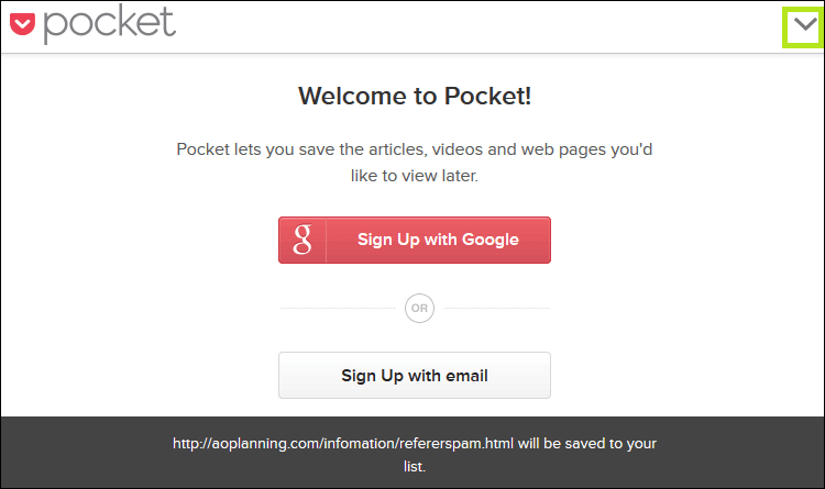 Pocket,Welcome